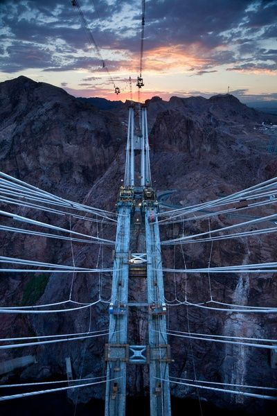 nevada pylon view, july 1, 2009 • from the bridge at hoover dam series • james stillings