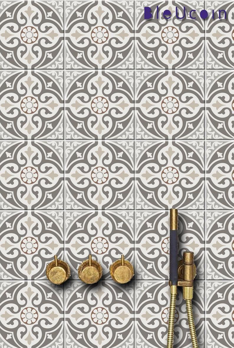 Tile Mur Escalier Decalcomanie Mexicaine Style 4 Designs En