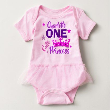 One cute princess 1st birthday personalized baby bodysuit girl one cute princess 1st birthday personalized baby bodysuit girl gifts special unique diy gift idea negle Choice Image