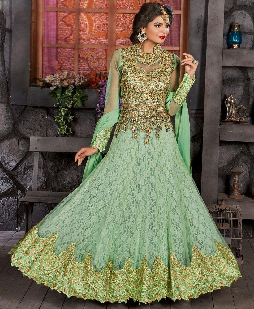 669c4e6693 UK Designer Anarkali Salwar Kameez Suit Traditional Pakistani Indian  Bollywood