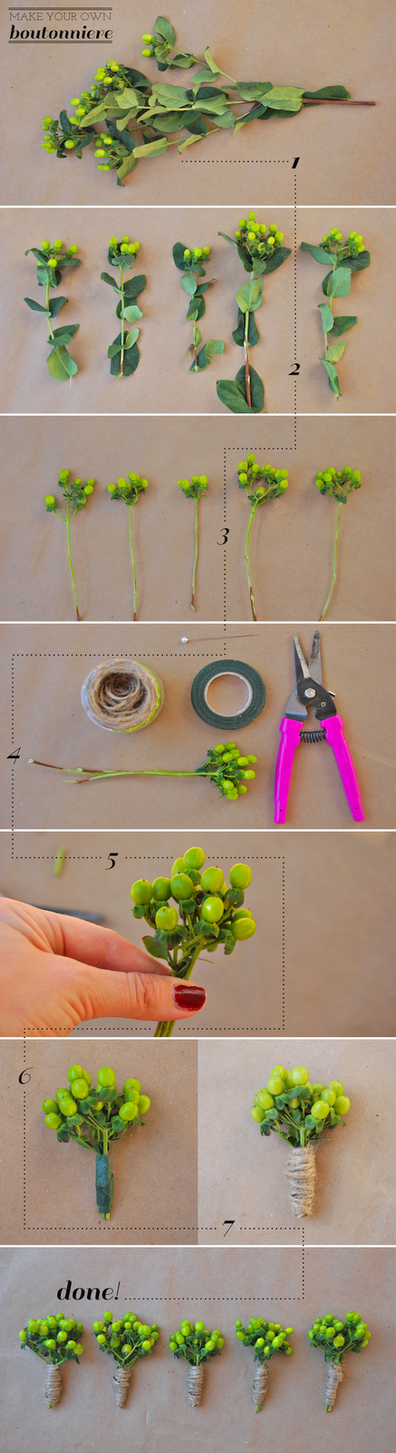 how to make a boutonniere with fake flowers