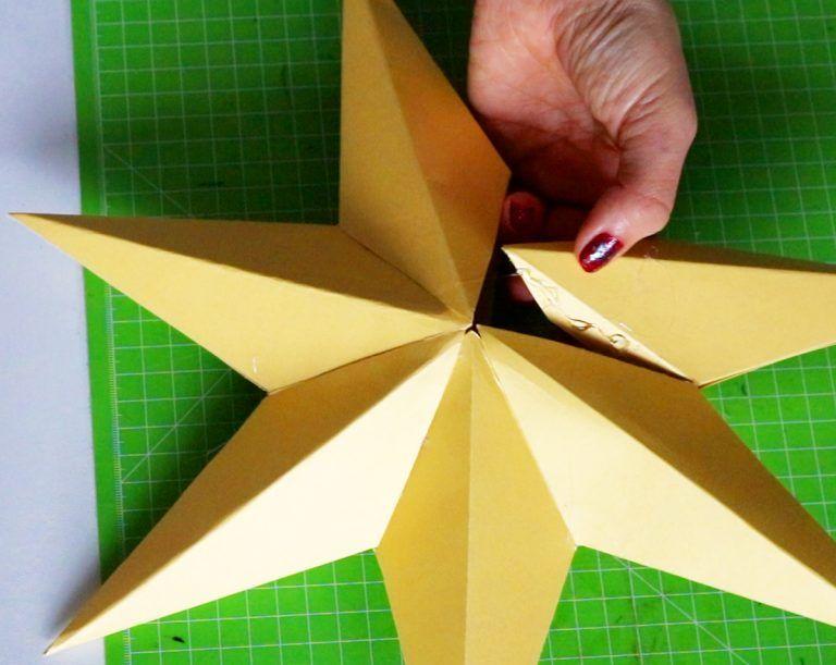 DIY - Bastelanleitung für einen klassischen Weihnachtsstern / 3D-Stern #3dsterneauspapier