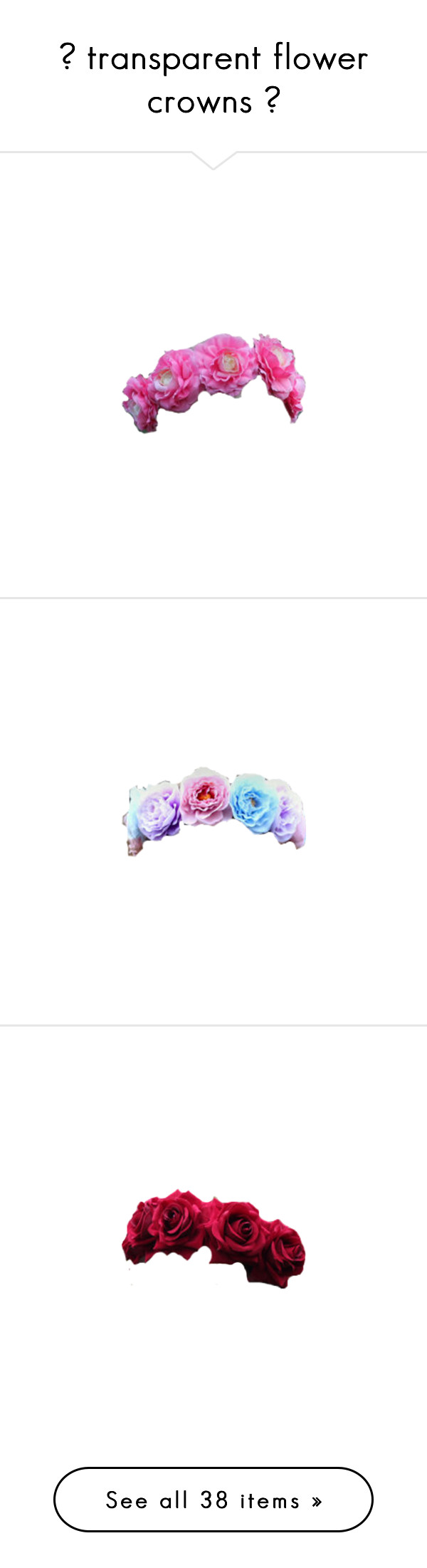 transparent flower crowns by someoneyournot liked on transparent flower crowns by someoneyournot liked on polyvore featuring accessories izmirmasajfo