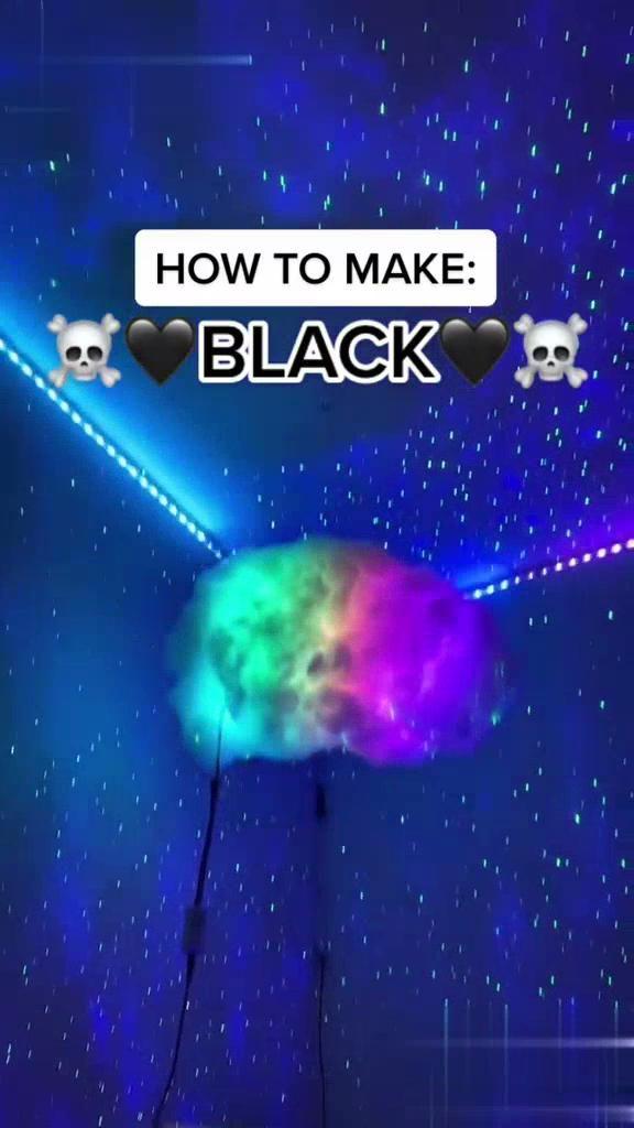 Black LED lights