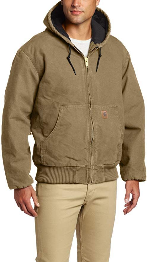 carhartt men s sandstone active jacket at amazon men s on cheap insulated coveralls for men id=89521
