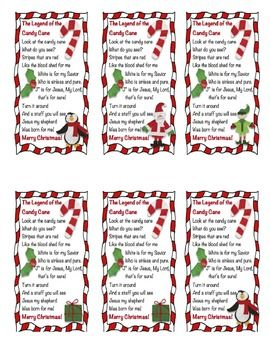 Gorgeous image in the story of the candy cane printable