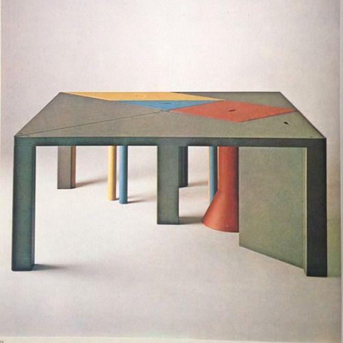 Massimo Morozzi Design.Tangram Modular Diningtable By Massimo Morozzi Italy 1983