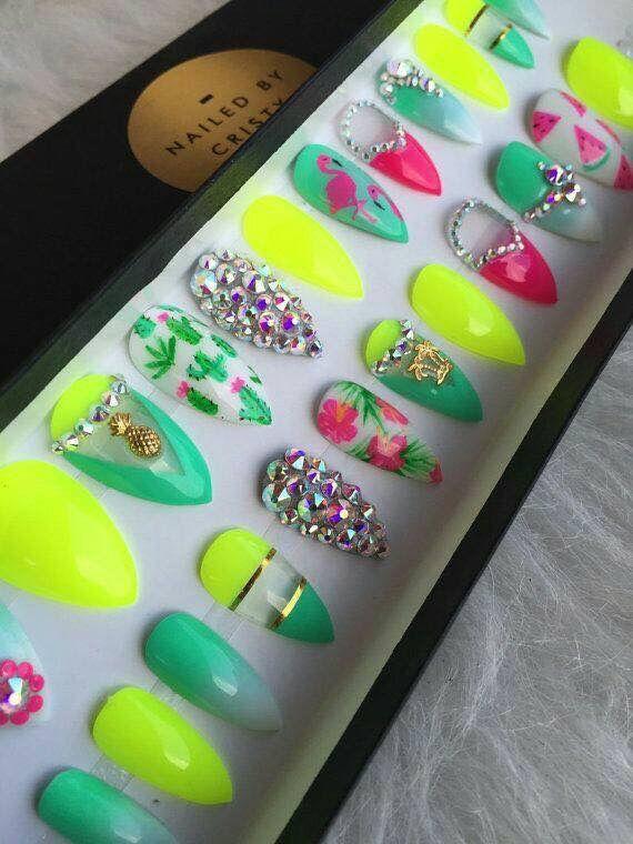 Lujo Uñas Prom Diseños Inspiración - Ideas de Pintar de Uñas ...