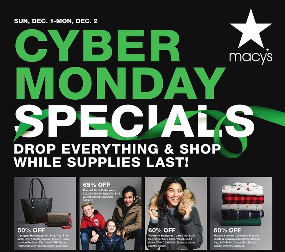 Macy S 2019 Cyber Monday Ad Cyber Monday Ads Macys Cyber Monday