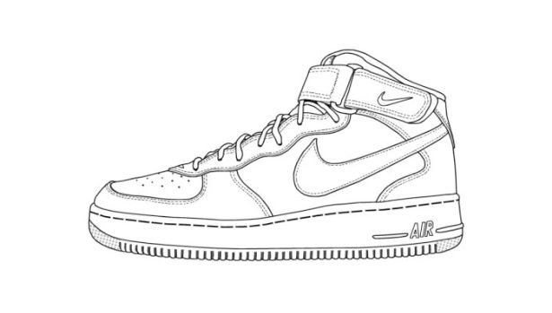 Nike Shoe Images For Coloring This Entry Was Posted In Sneaker Resources And Tagged Templates And Sneakers Drawing Nike Shoes Image Shoe Template
