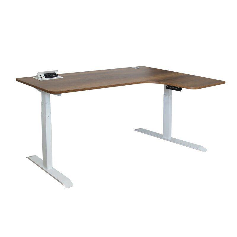 Hervey Bay Height Adjustable L Shape Desk Adjustable Standing Desk Adjustable Height Desk Standing Desk