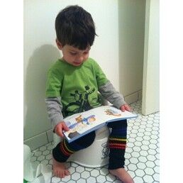 Why not use the leg warmers as a potty training motivator!
