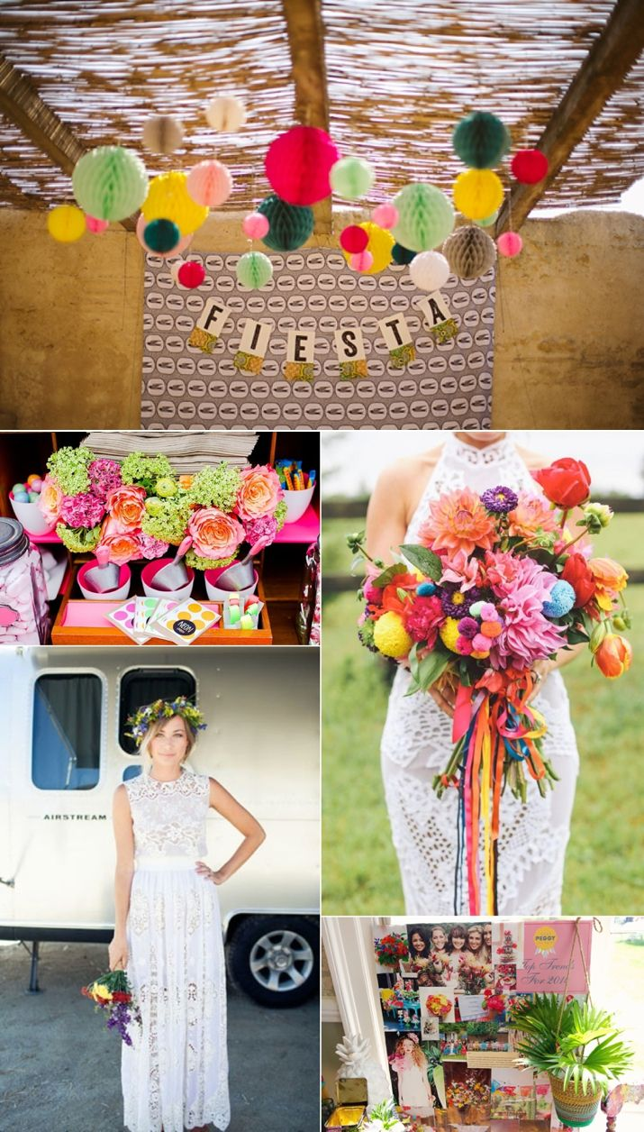 Mexican style wedding dress  Colourful Fiesta Style Wedding Inspiration  Wedding blog Fiestas