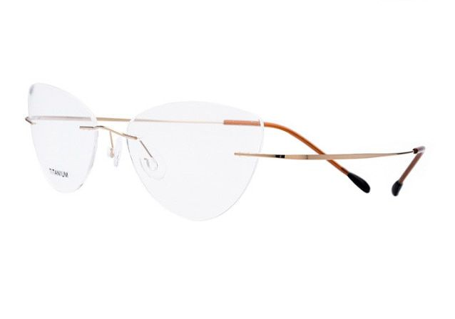 9181868c1bb Fashion Women Cat Eye Rimless Titanium myopia glasses prescription glasses  Optical Eyewear short-sighted glasses