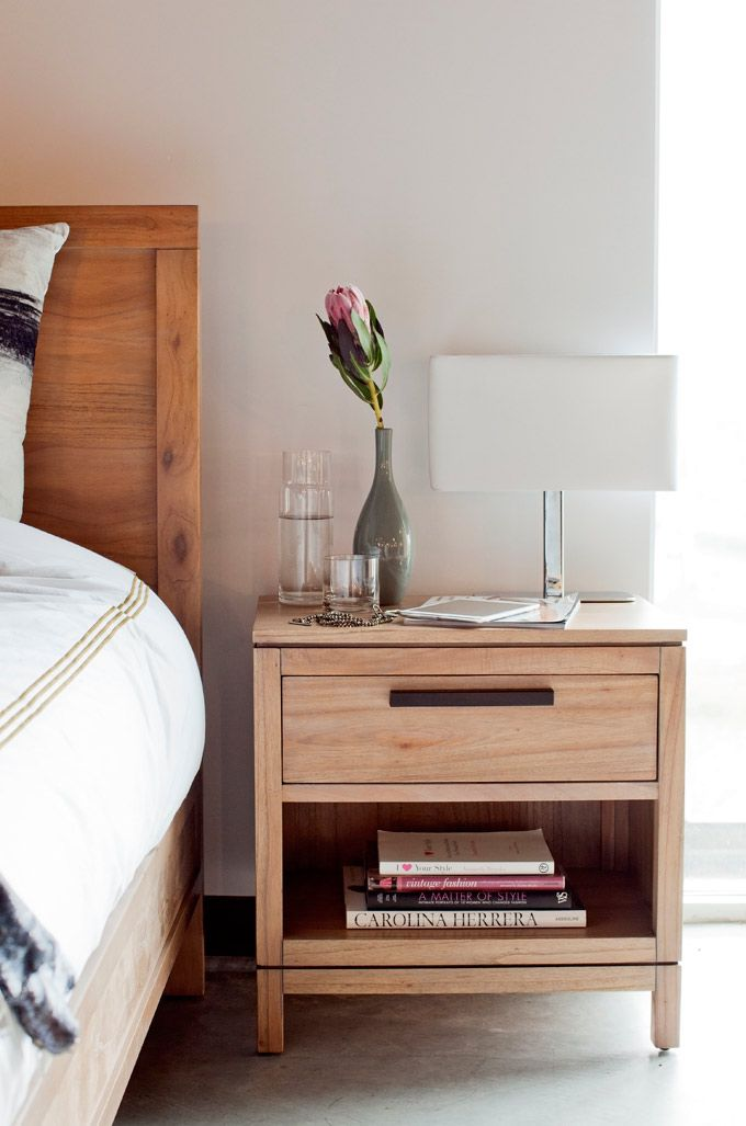 Set Up A Bedroom As Though It Was Arranged For Two People A Bigger Bed Two Nightstands And A Less Crowded Closet Opens Up Furniture Home Side Tables Bedroom Set of two night stands
