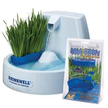 The all new Drinkwell Aqua Garden is a Hydroponic Cat