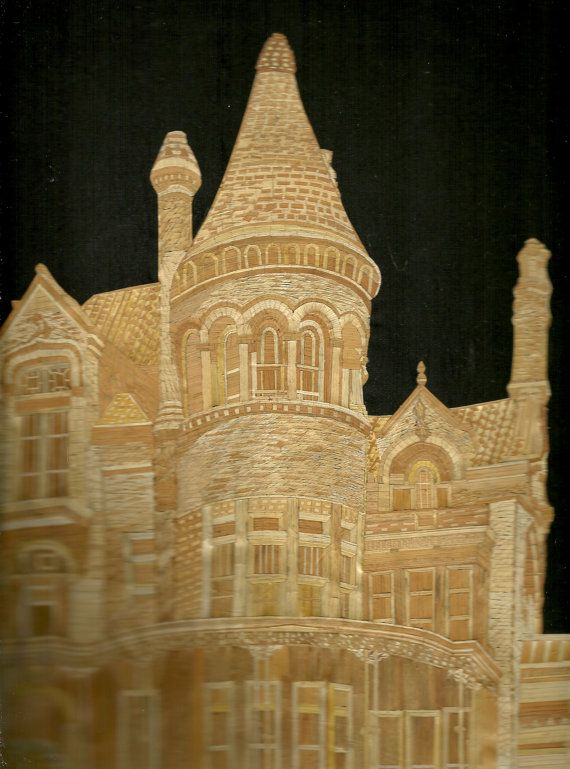 Bishop Palace GALVESTON Texas Handmade with leaves by museumshop, $129.00