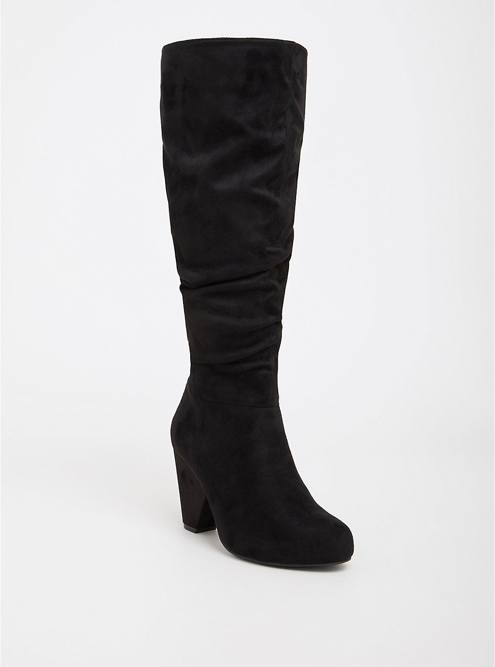 4ac0dca8f08 Plus Size Black Faux Suede Cone Over the Knee Boot (Wide Width   Wide to Extra  Wide Calf)