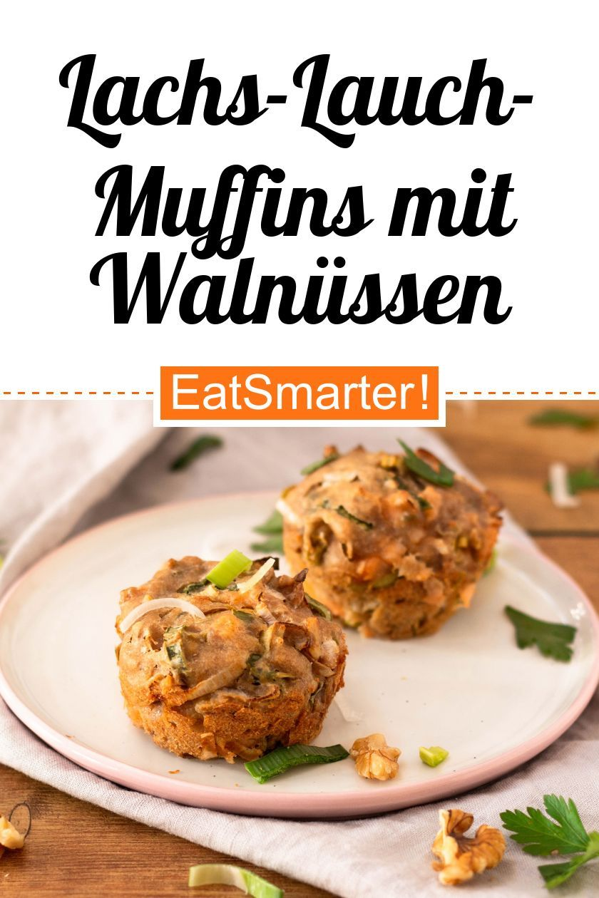 Herzhafte Lachs-Lauch-Muffins mit Walnüssen – Carey&CleanEatingS