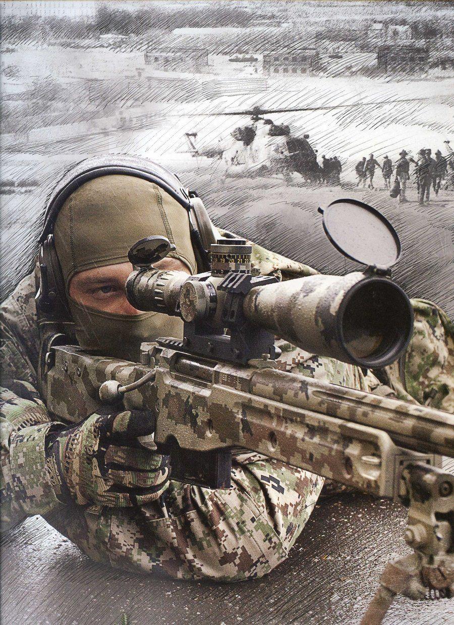 Военные картинки снайпера
