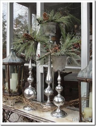 Modern and Rustic #Holiday #Windows Decor