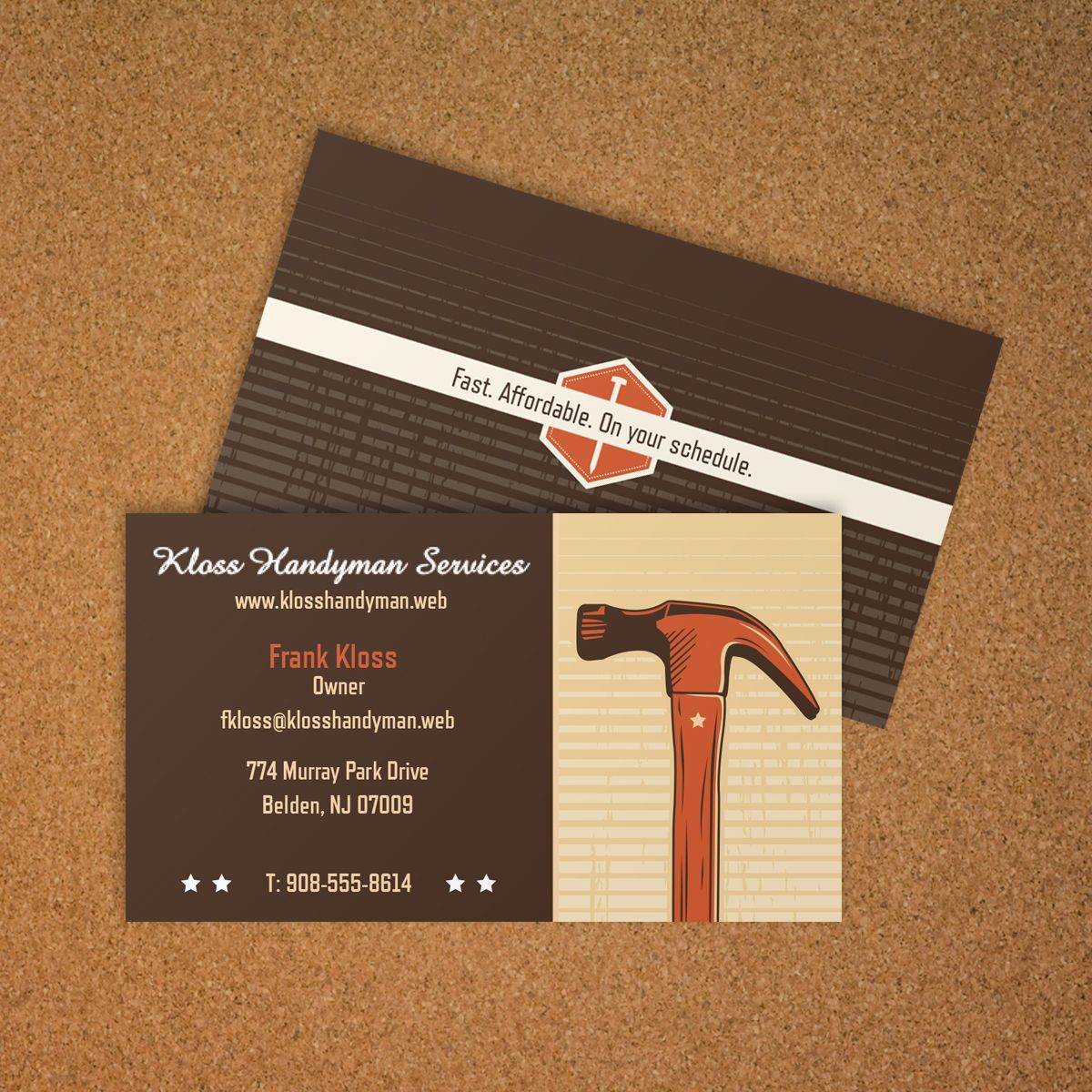 General Contractor Business Card | Vistaprint | Business Card Ideas ...