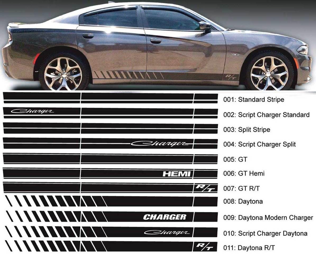 Dodge Charger Script Rocker Stripe Side Band Decal Sticker Hemi Daytona Rt Gt Mopar Graphics Fits To Models 2006 2020 Dodge Charger Mopar Body Stickers [ 962 x 1195 Pixel ]