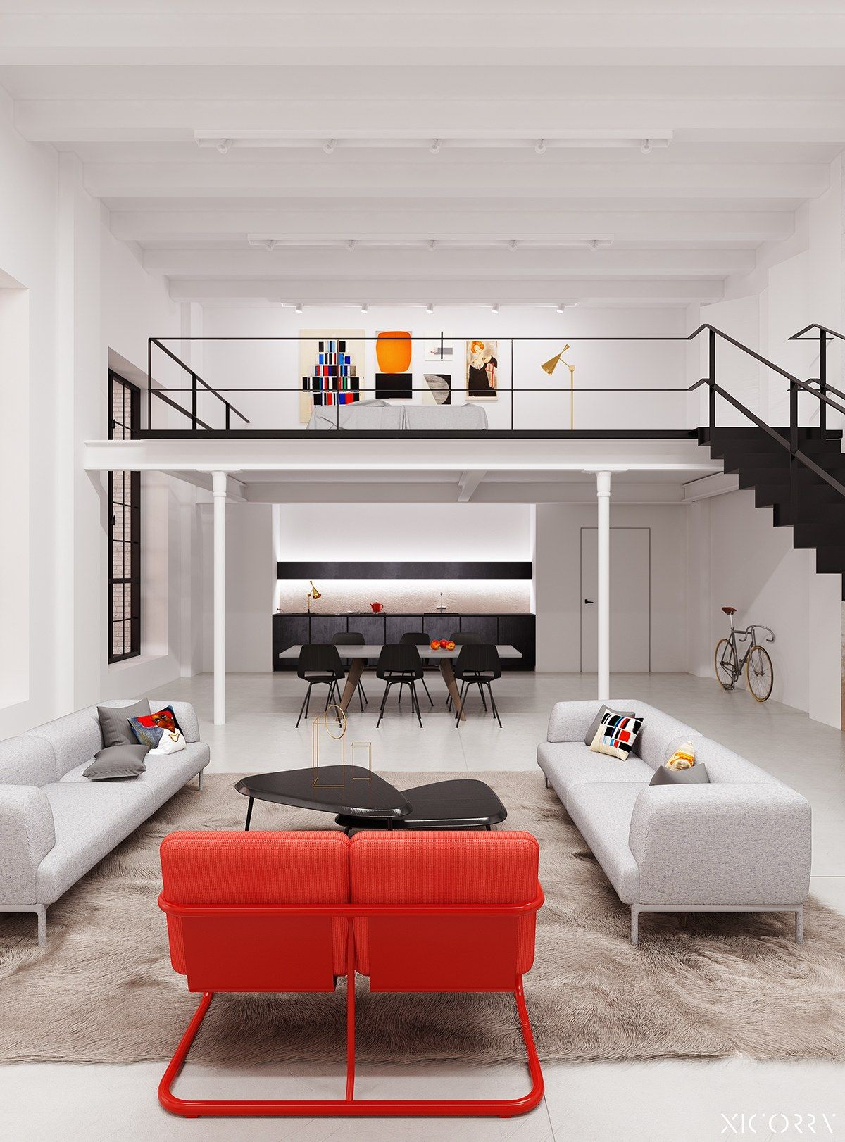 4 Duplex Lofts With Massive Windows | Loft interiors ...