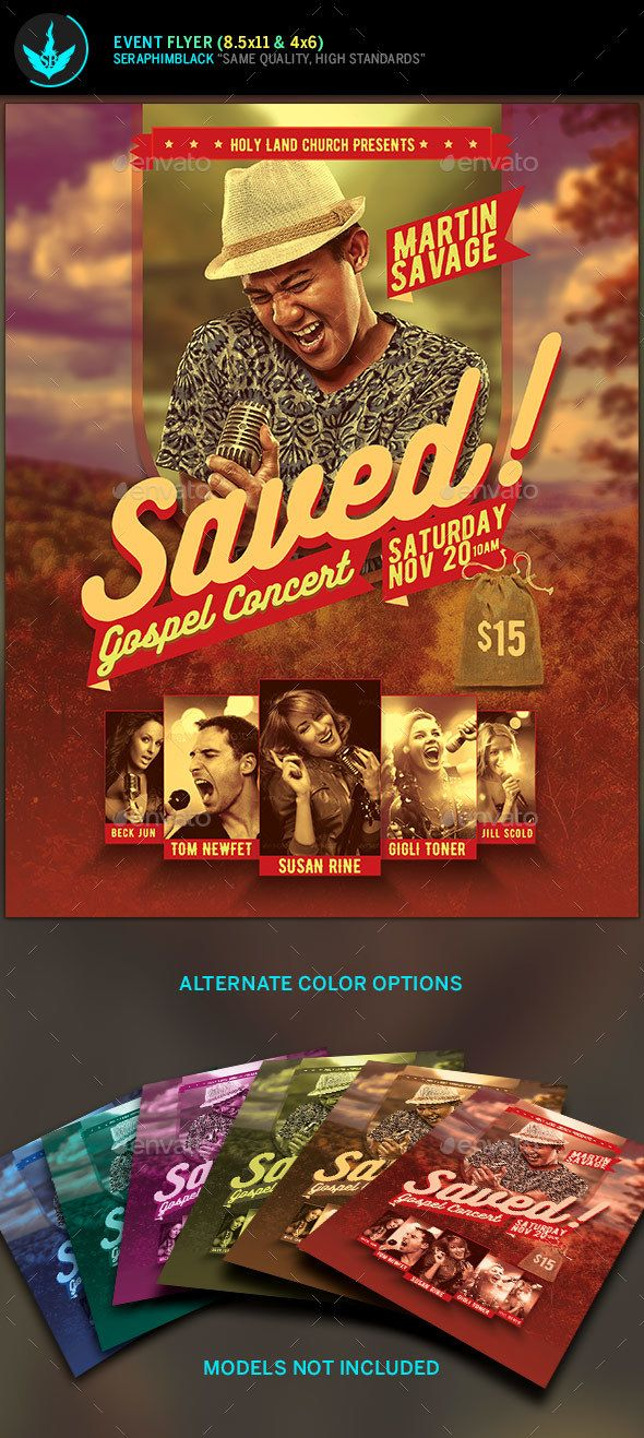 Saved Gospel Concert Flyer Template Tired Of The Same Old Look For