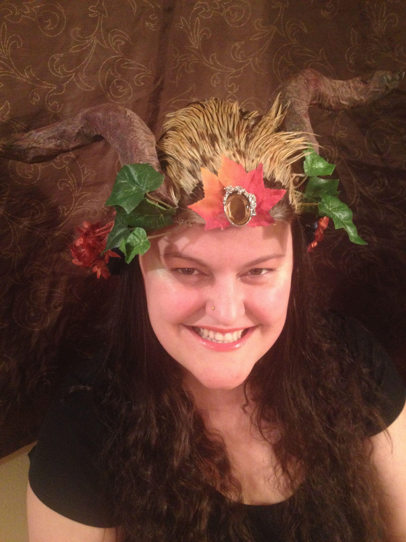 Tribal Fusion Festival Wear Headpiece Horned Shaman
