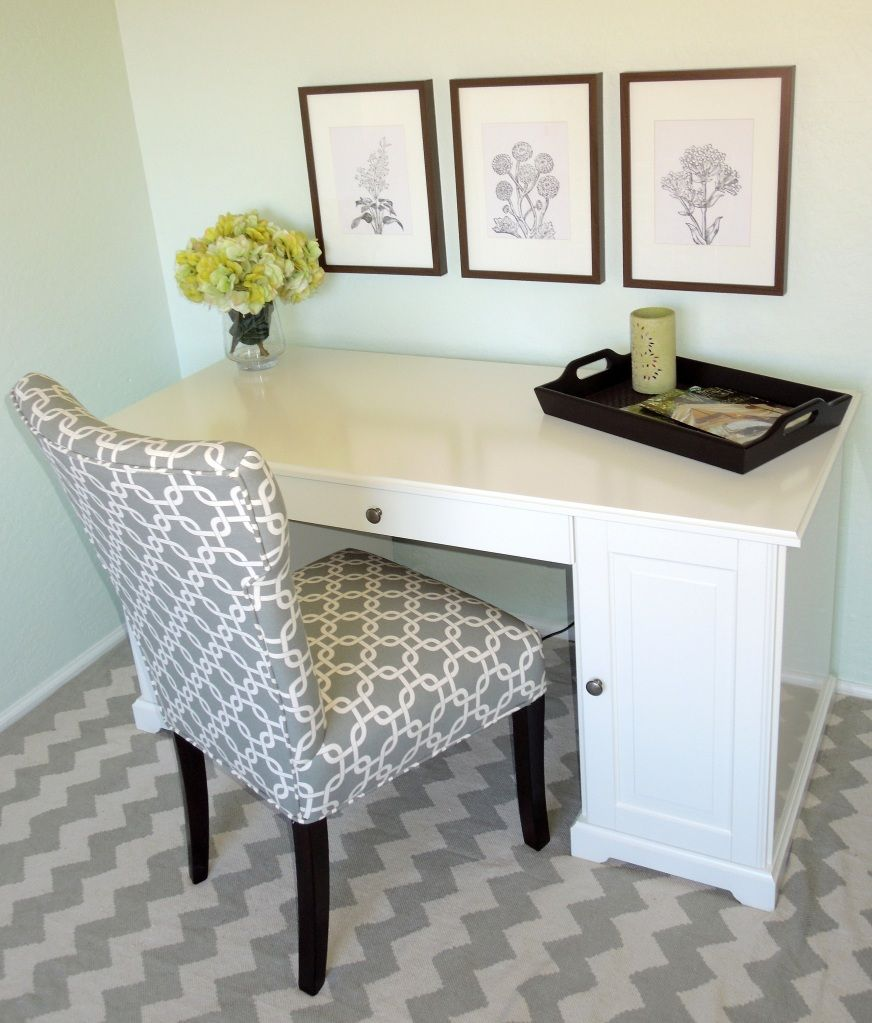 Beau Rug: Urban Outfitters Chair: TJ Maxx Find Desk: Ikea Vase And Flowers: Pier  One Tray: Home Goods Frames: Ikea Prints: Etsy Holy Moley I Love It All!