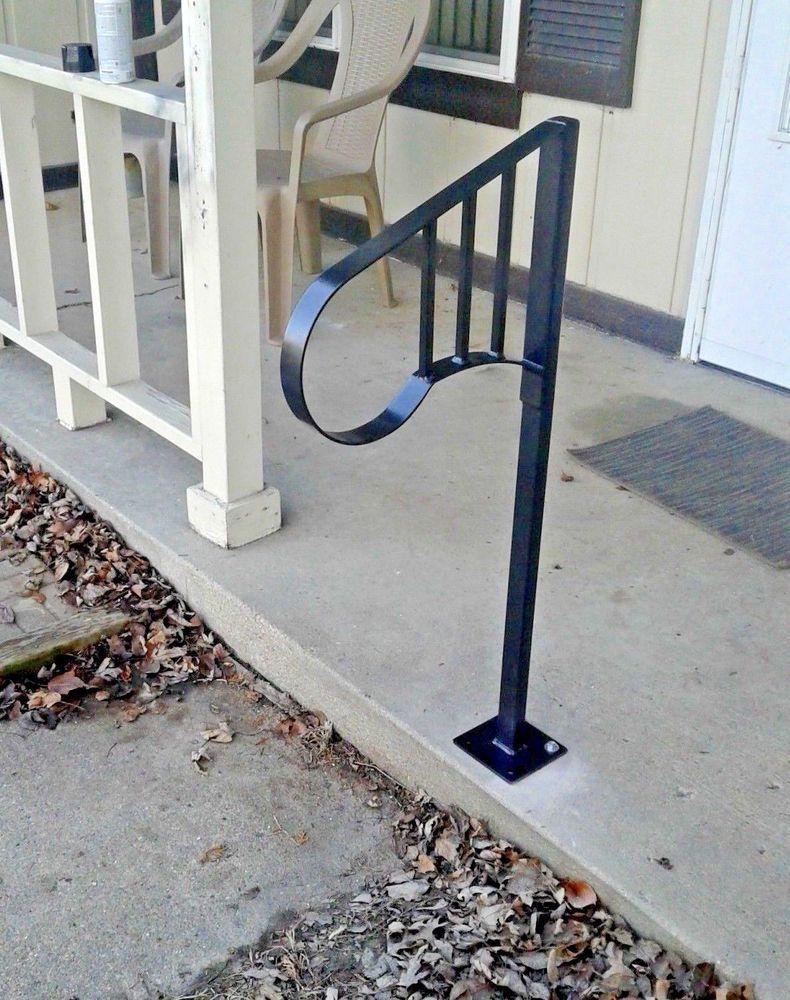 New Handrail Wrought Iron 1 2 Steps Steel Grab Rail Single Post   Metal Handrails For Sale   Balcony Railing   Iron Balusters   Balcony   Grab Rail   Cast Iron