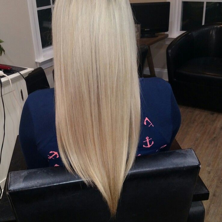 Long Blonde Hair With A V Cut Long Blonde And Beautiful