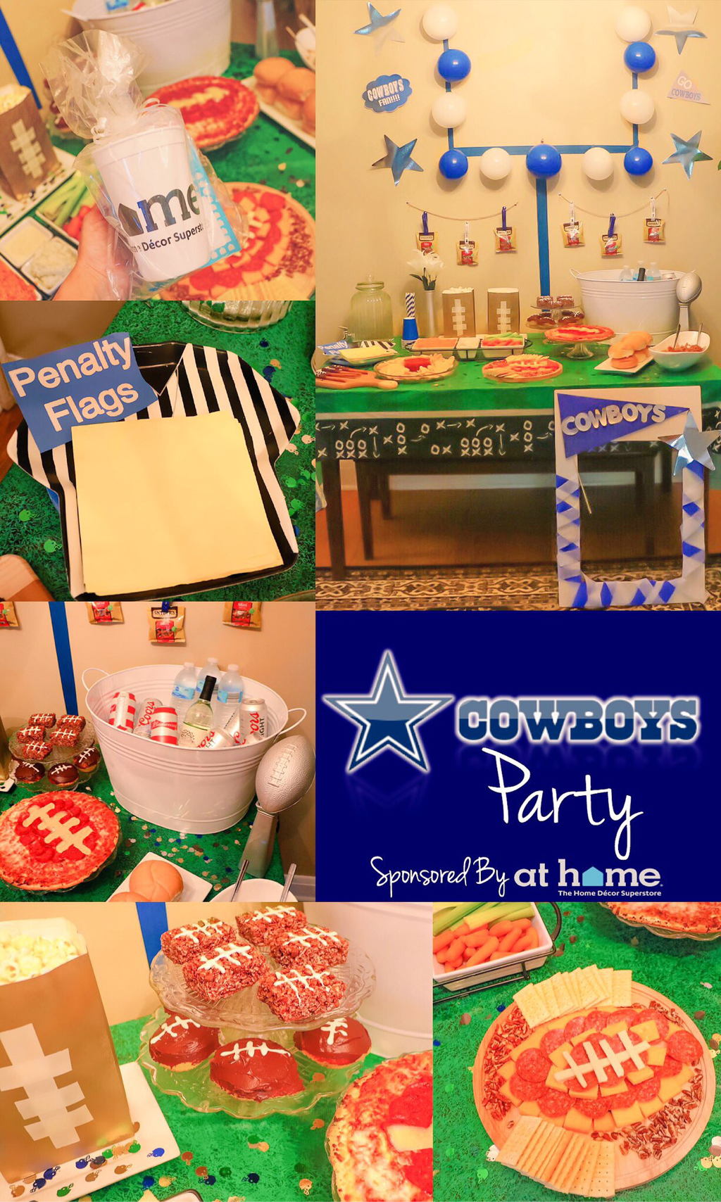 DALLAS COWBOYS FOOTBALL PARTY ATHOME STORE Cowboy Birthday Party Dallas Cowboys Football