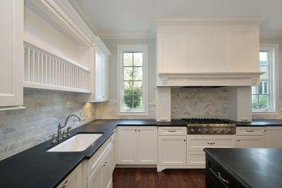 Honed Granite Countertops Guide White Cabinets Black Countertops