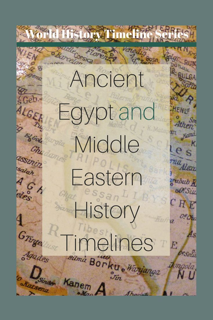 Middle East and Ancient Egypt Timelines World