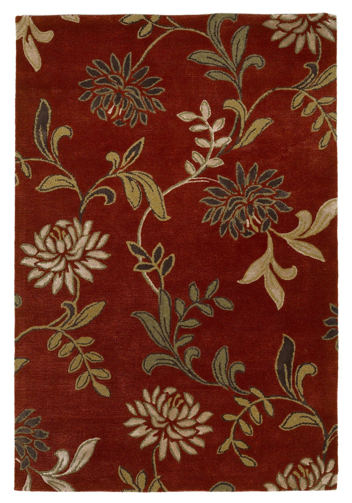 Adkisson Red Floral Area Rug