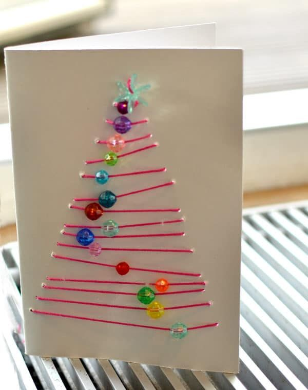 grafische Weihnachtskarten: Advents-Basteln mit Schulkindern - HANDMADE Kultur