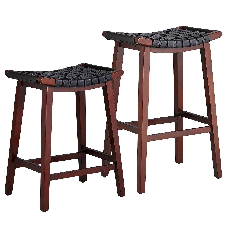 Keating Backless Bar Counterstools Black Comfortable Bar Stools Leather Counter Stools Bar Stools