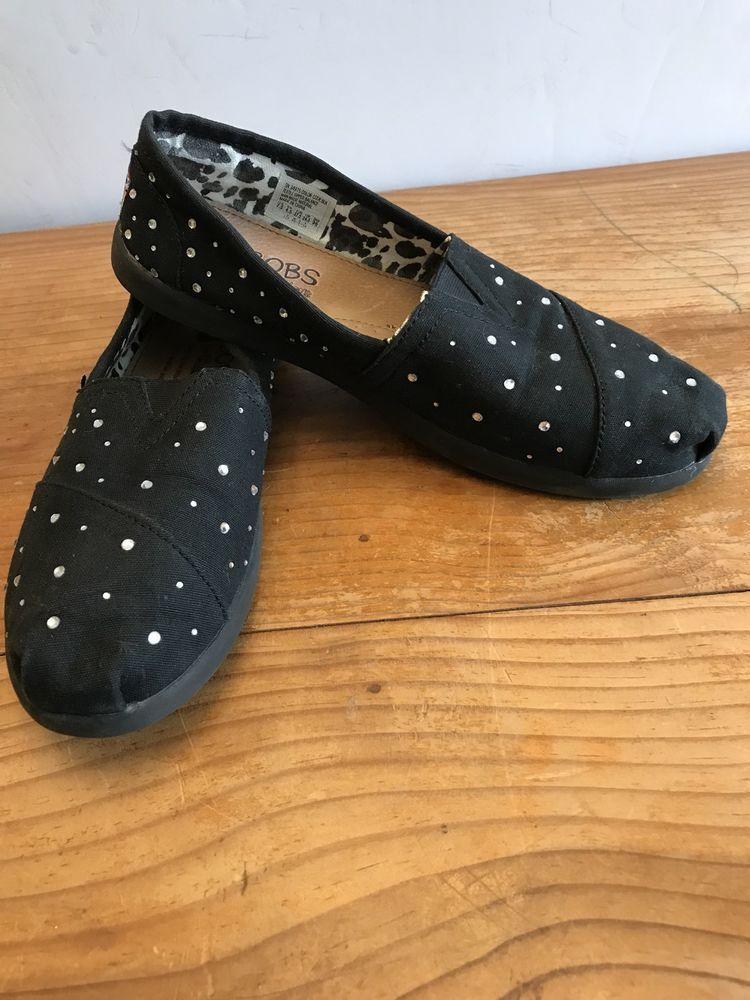Size 7.5 W Bobs by Skechers Black W
