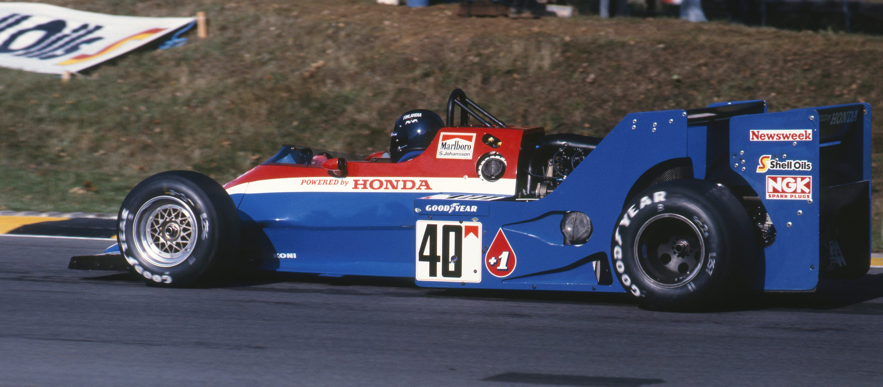Stefan Johansson Qualifying the Spirit-Honda in the European GP at Brands Hatch 1983