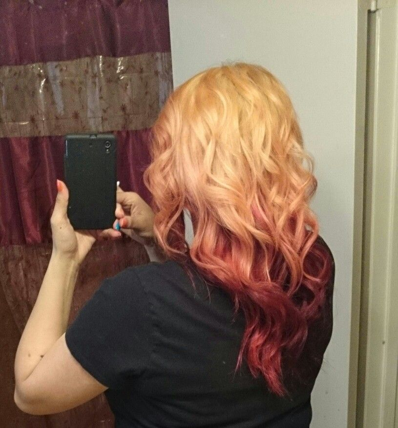 Spring 2014 back blonde with red underneath