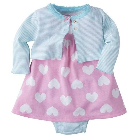 8db1a3b61a Gerber® Baby Girls  3-Piece Big Heart Dress
