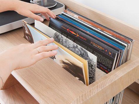 Portee Le Meuble Pour Vinyles De Estis Meuble Vinyle Meuble Pour Platine Vinyle Et Rangement Vinyle