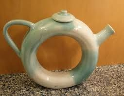 Here is a donut teapot made on the potters wheel