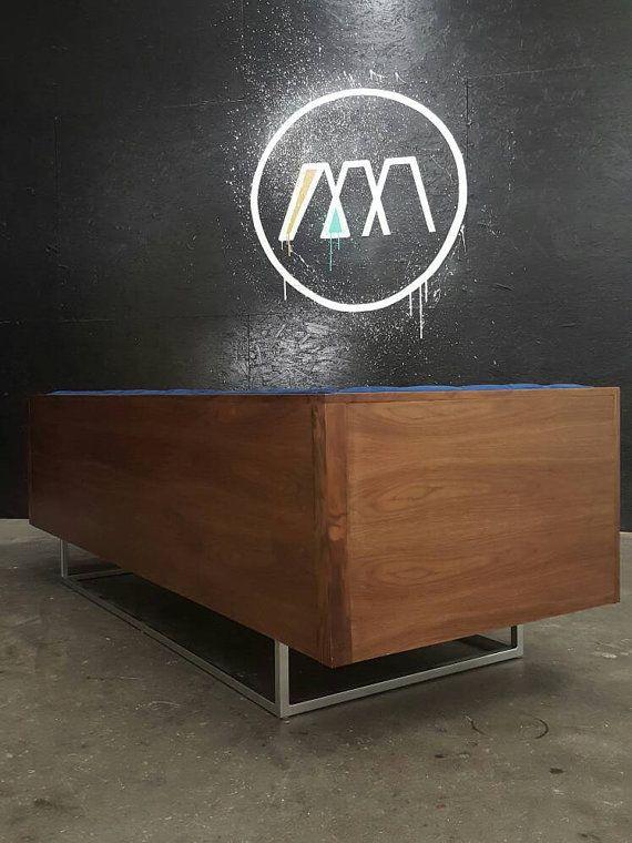 mid century modern tufted milo baughman style walnut encased sofa rh pinterest com t d furniture sumiton al t d furniture mesa az