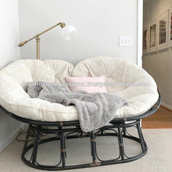 Enjoyable Source Double Seat Rattan Papasan Chair Baominh Wholesaler Machost Co Dining Chair Design Ideas Machostcouk