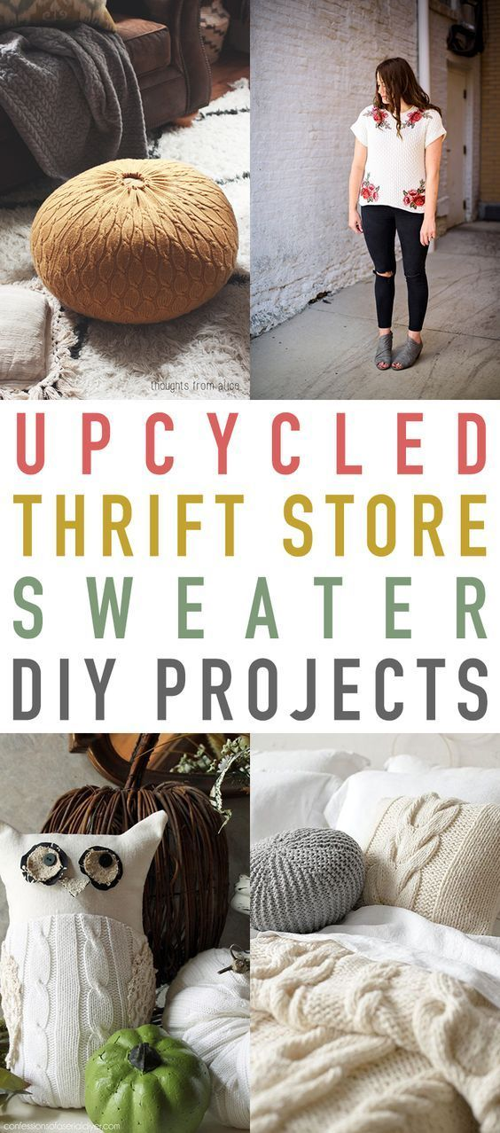 Upcycled Thrift Store Sweater DIY Projects -   11 DIY Clothes Upcycle tips ideas