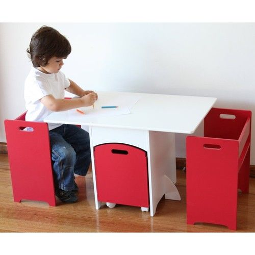 Kids Table Chairs Set With Toy Storage Hipkids Com Au Kids Table And Chairs Kid Table Toy Storage Boxes