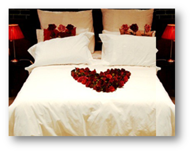 Arrange Rose Petals On Bed To Spell Out I Love You To Surprise